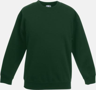 Bottle Green Klassiska sweatshirt tröjor för barn - med reklamtryck