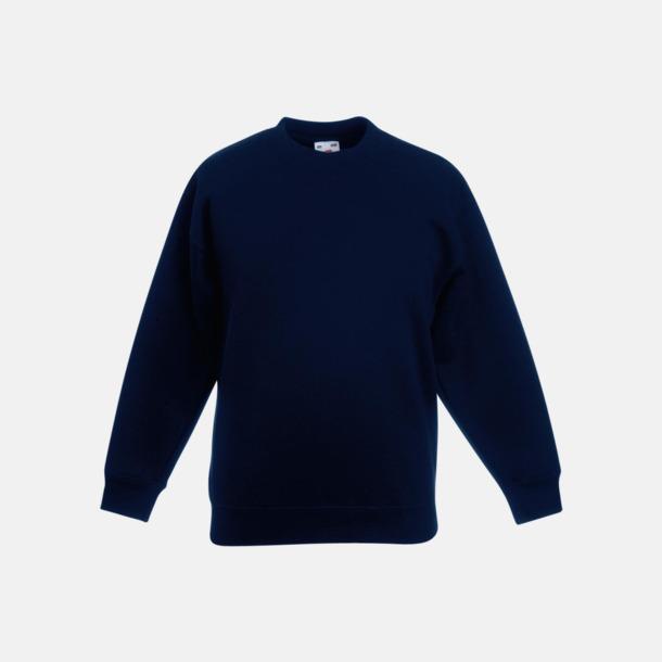 Deep Navy Klassiska sweatshirt tröjor för barn - med reklamtryck