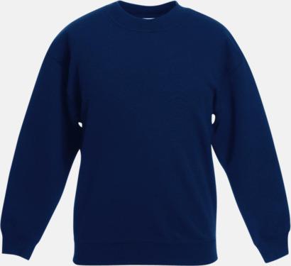 Marinblå Klassiska sweatshirt tröjor för barn - med reklamtryck