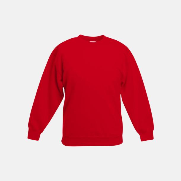 Röd Klassiska sweatshirt tröjor för barn - med reklamtryck