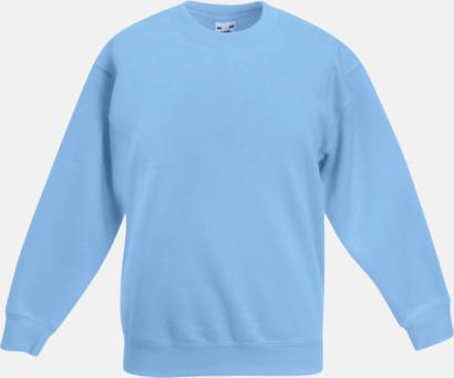 Sky Blue Klassiska sweatshirt tröjor för barn - med reklamtryck