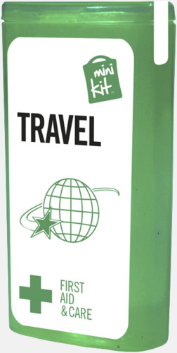 Grön Litet resekit med reklamtryck