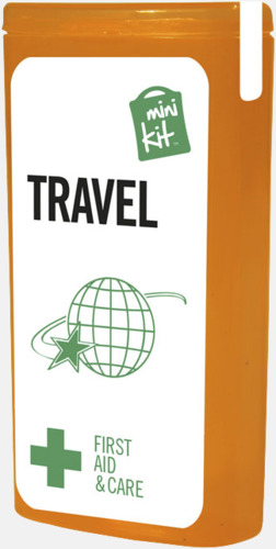 Orange Litet resekit med reklamtryck
