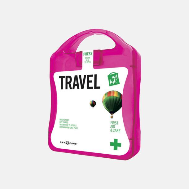 Magenta Första hjälpen-kit för resan - med reklamtryck