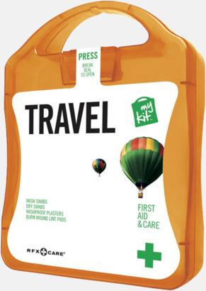 Orange Första hjälpen-kit för resan - med reklamtryck