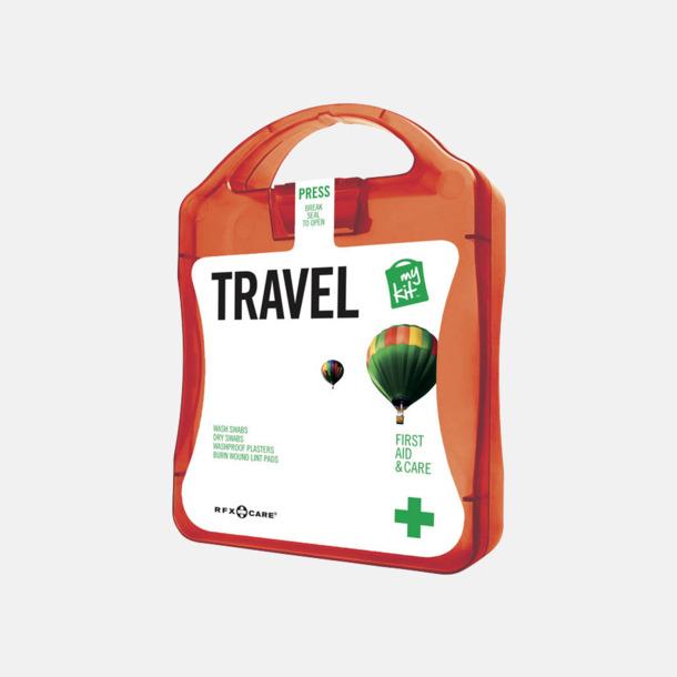 Röd Första hjälpen-kit för resan - med reklamtryck