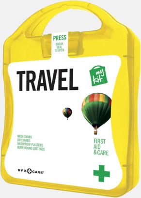 Gul Första hjälpen-kit för resan - med reklamtryck