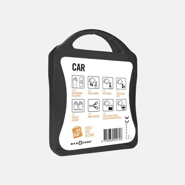 Första hjälpen-kit att ha i bilen - med reklamtryck