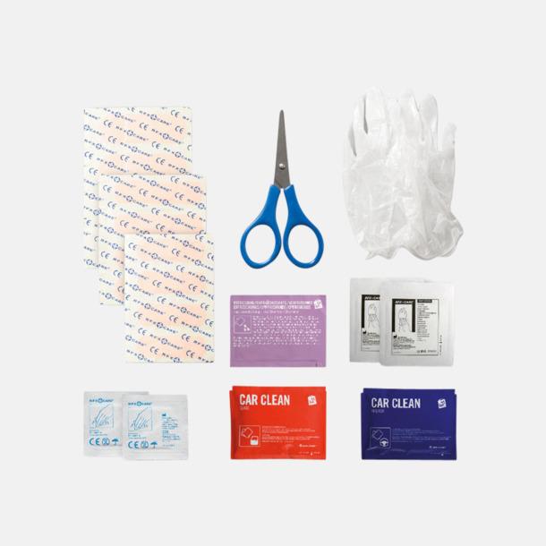 Innehåll Första hjälpen-kit att ha i bilen - med reklamtryck