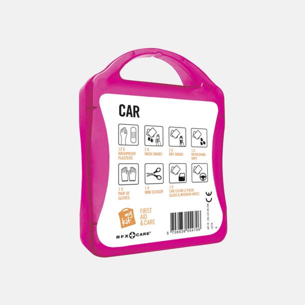 Baksida Första hjälpen-kit att ha i bilen - med reklamtryck