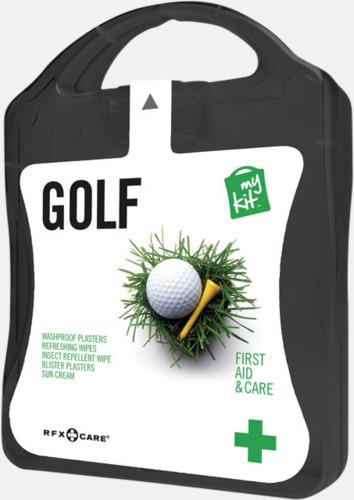 Svart Plåster, solkräm & annat för golfaren - med reklamtryck