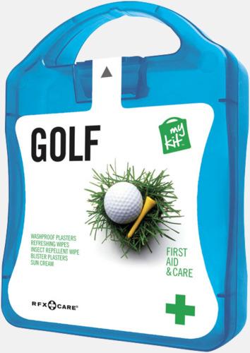 Blå Plåster, solkräm & annat för golfaren - med reklamtryck