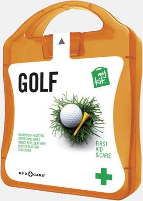 Orange Plåster, solkräm & annat för golfaren - med reklamtryck