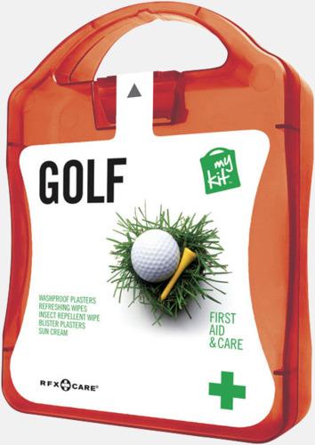 Röd Plåster, solkräm & annat för golfaren - med reklamtryck