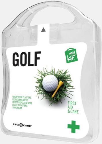 Vit Plåster, solkräm & annat för golfaren - med reklamtryck