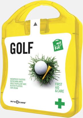 Gul Plåster, solkräm & annat för golfaren - med reklamtryck