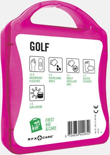 Baksida Plåster, solkräm & annat för golfaren - med reklamtryck