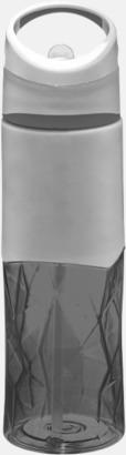 """Svart/Grå """"Knöggliga"""" vattenflaskor med reklamtryck"""