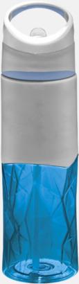 """Blå/Grå """"Knöggliga"""" vattenflaskor med reklamtryck"""