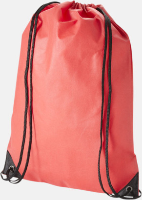 Röd Fina gympsapåsar i non woven-material med reklamtryck