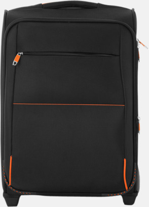 Svart / Orange Kompakta dragväskor med reklamtryck