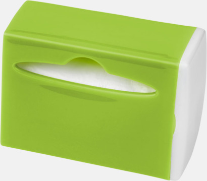 Limegrön / Vit Behållare med soppåsar - med reklamtryck