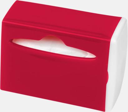 Röd / Vit Behållare med soppåsar - med reklamtryck
