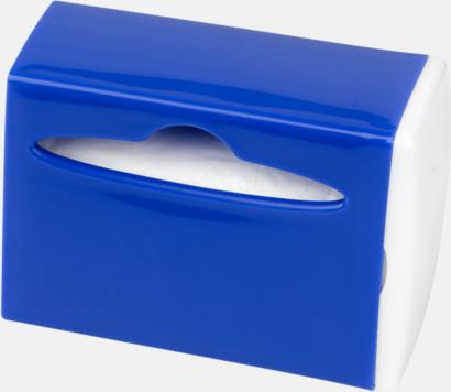 Royal/Vit Behållare med soppåsar - med reklamtryck