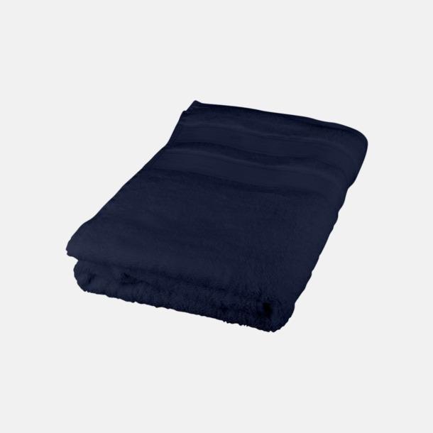 Marinblå Seasons Eastport handdukar i med reklambrodyr