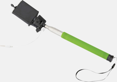 Grön Selfie stick med sladd