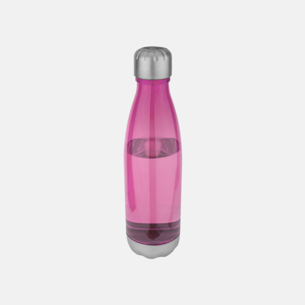 Neonrosa Stilrena sportflaskor med reklamtryck