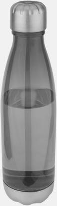 Smoked Black Stilrena sportflaskor med reklamtryck