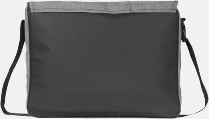Ljunggrå datorväskor med reklamtryck
