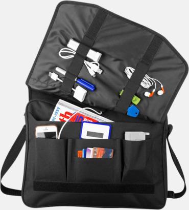 Messengerväska med vadderat datorfack - med reklamtryck