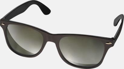 Svart Billiga solglasögon med reklamtryck