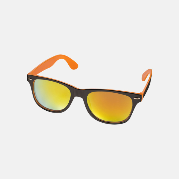 Orange / Svart Billiga solglasögon med reklamtryck