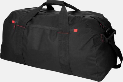 Svart Extra stora weekendväskor med reklamtryck