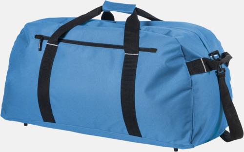 Blå Extra stora weekendväskor med reklamtryck