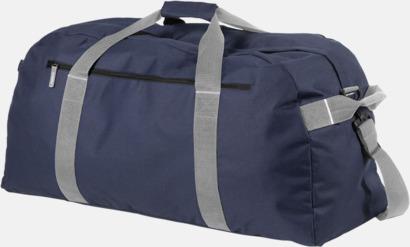 Marinblå Extra stora weekendväskor med reklamtryck