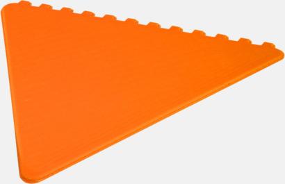 Orange Triangelformade isskrapor i många färger med reklamtryck