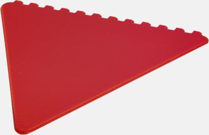 Röd Triangelformade isskrapor i många färger med reklamtryck