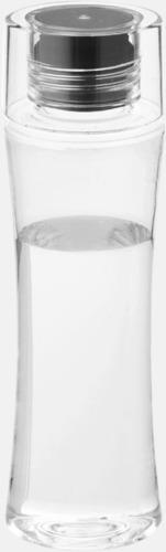 Svart Smäckra vattenflaskor med reklamtryck