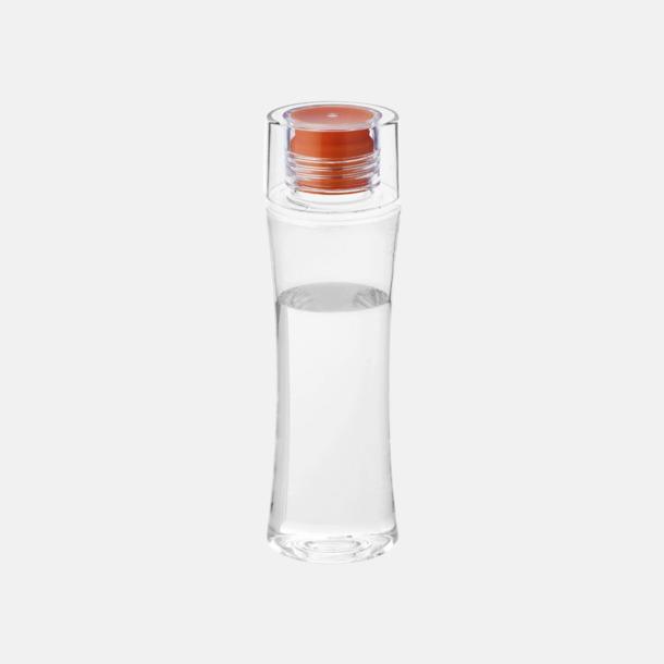 Orange Smäckra vattenflaskor med reklamtryck