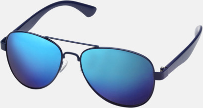 Spegelblanka solglasögon med reklamtryck