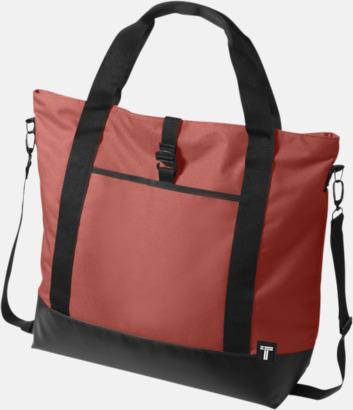 Röd Weekend & laptopväskor med reklamtryck