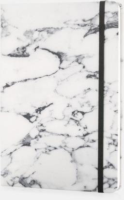 Vit A5 marmormönstrade anteckningsböcker med reklamtryck