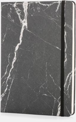 Svart A5 marmormönstrade anteckningsböcker med reklamtryck
