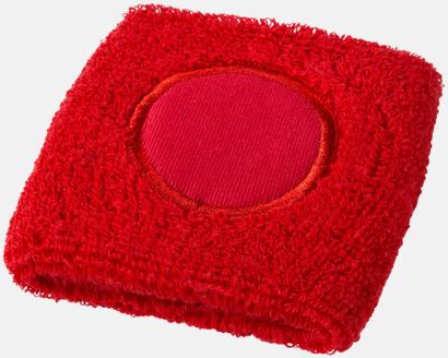 Röd Svettband med label att trycka på med reklamtryck