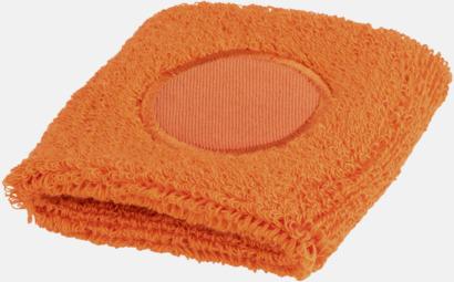 Orange Svettband med label att trycka på med reklamtryck