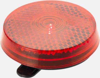 Röd Reflex med blinkande rött ljus - med reklamtryck